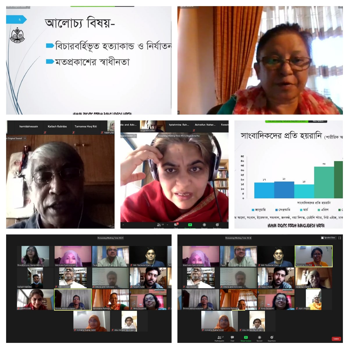 Online Discussion on 'Human Rights Situation in Bangladesh during COVID-19 Pandemic'