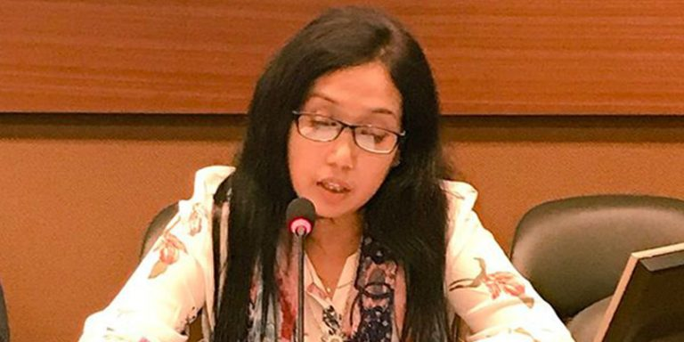 Rasheda-Akhter-delivering-the-statement-on-behalf-of-Child-Rights-Advocacy-Coalition-in-Bangladesh